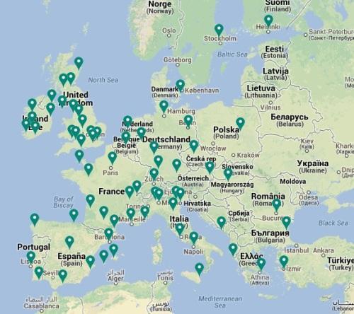 mapa de ruta AER LINGUS