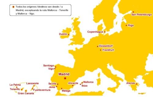 mapa de ruta iberia express