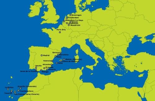 mapa de ruta transavia