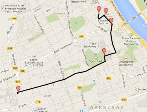 post varsovia mapa