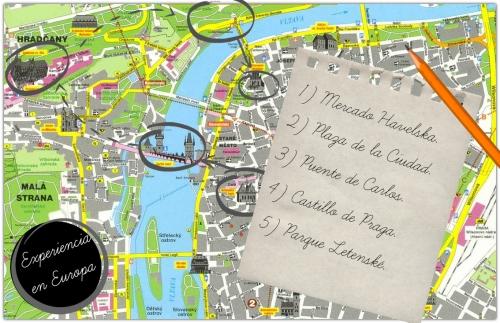 mapa de praga turistico