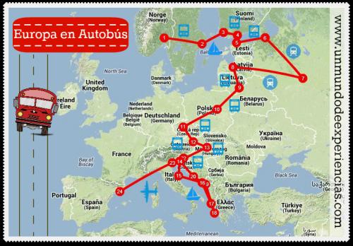 europa en autobus