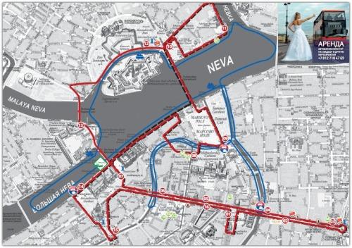 BUS TURISTICO SANT PETERSBURGO mapa